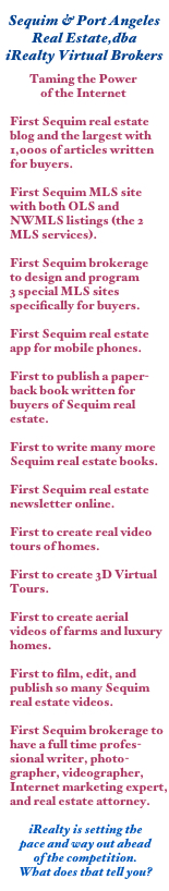 Sequim Real Estate Firsts