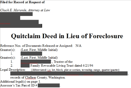 What is the deed in lieu of foreclosure process?